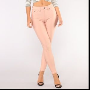Booty Lifting High Rise Rose Stretch Ponte Pants